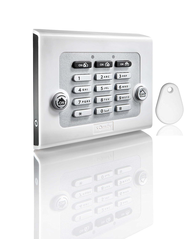 Somfy, Teclado con llave electrónica para alarma, blanco ...