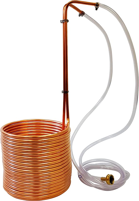 NY Brew Supply Super Efficient 3/8 x 50' Copper Wort Chiller