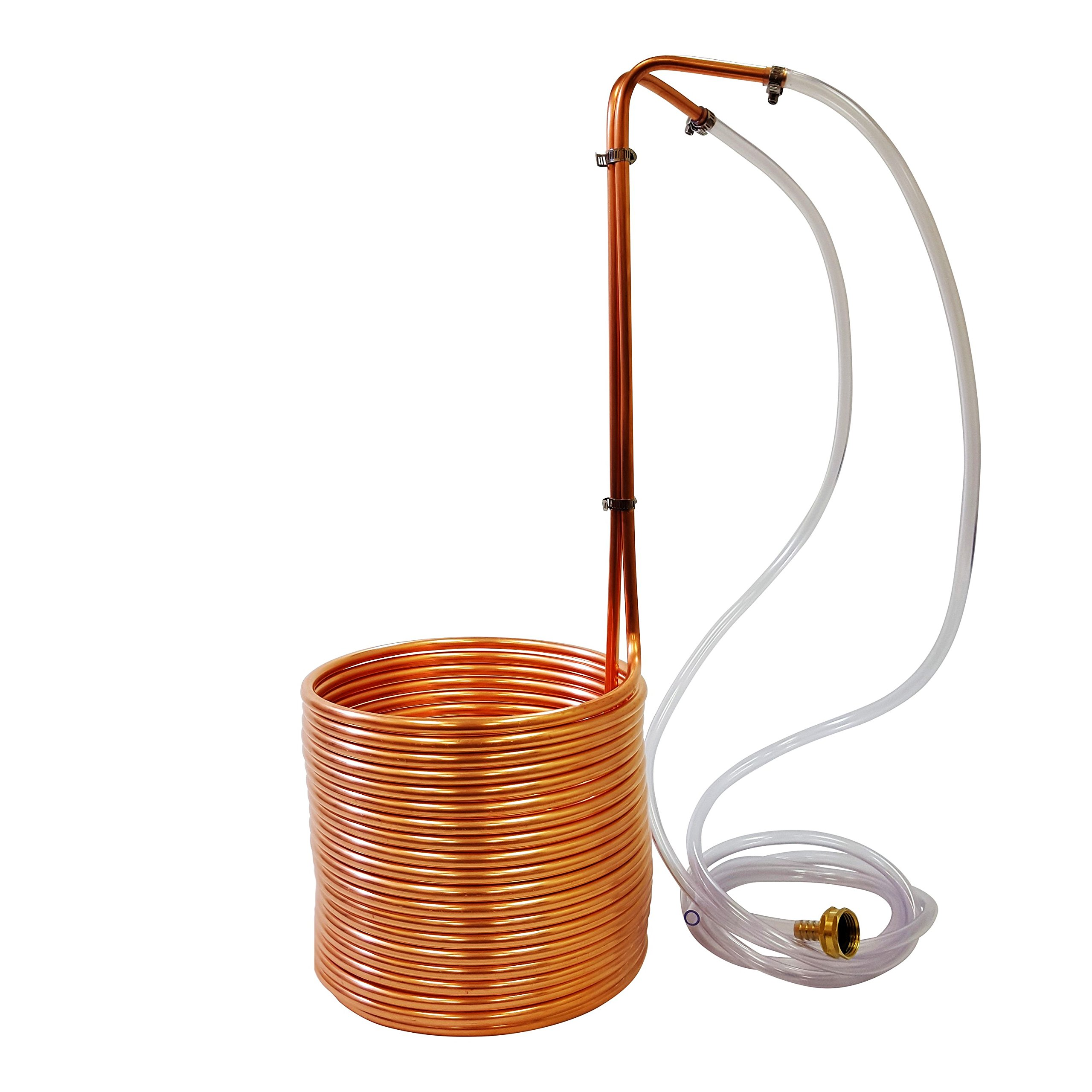 NY Brew Supply W3850-CV Super Efficient 3/8 x 50' Copper Wort Chiller by NY Brew Supply