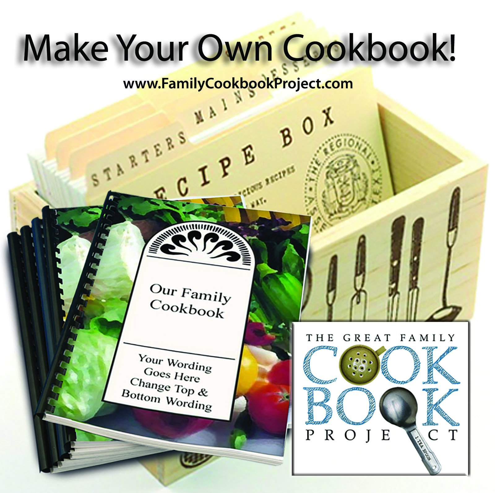 Family Cookbook Creation Kit With 5 Professionally Printed Custom Cookbooks - Quick, Convenient and Easy to Use - USA-Based Tech Support by Family Cookbook Project