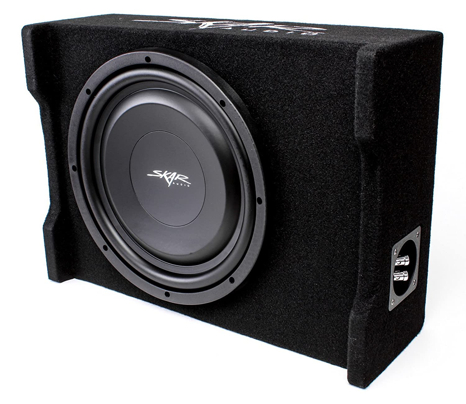 Skar Audio Ev 12mb S4 12 Single 4 Ohm 500w Shallow Wiring Mount Loaded Subwoofer Enclosure Cell Phones Accessories