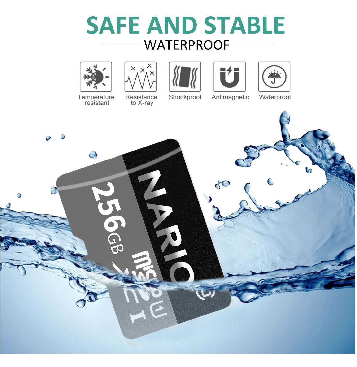 NARIO 256GB Micro SD SDXC Card High Speed Memory Card With SD Card Adapter by NARIO (Image #5)