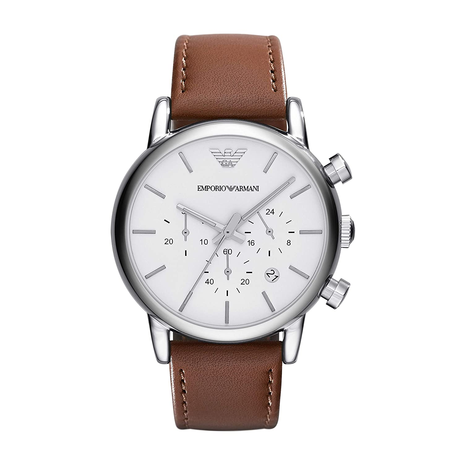 4bb296ed Emporio Armani Men's AR1846 Dress Brown Leather Watch