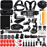 Action Camera Accessories, Accessories for Gopro Hero 7 Hero 2018 Hero 6 5 4 3 2 1 Go pro Hero Session 5 AKASO EK7000 Apeman and Most of Sports Camera with Case (Black) by LUSCREAL.