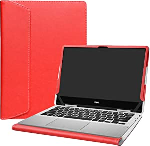 """Alapmk Protective Case Cover for 13.3"""" Dell inspiron 13 2-in-1 7386 i7386 Laptop[Warning:Not fit Dell inspiron 13 7380],Red"""