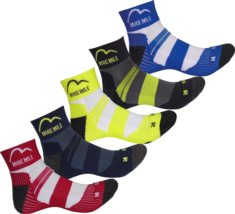5 Pair Pack More Mile Cushioned Trail Padded Running Sports Socks Mens Womens Da