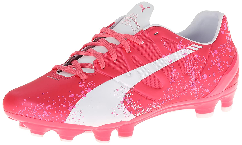 PUMA Women's Evo Speed 3.3 PK Firm Ground Soccer Shoe,Camellia Rose/Fluorescent 10317701