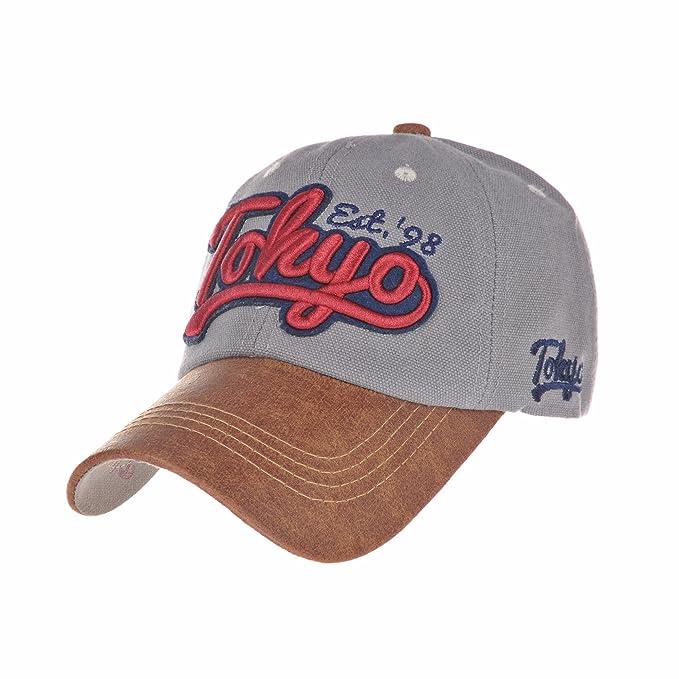 WITHMOONS Gorras de béisbol Gorra de Trucker Sombrero de Baseball Cap  Cotton Trucker Cap Faux Leather 4906b83c979