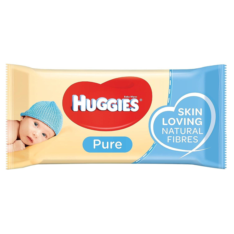 1008 Toallitas Huggies Pure Toallitas para Beb/é 18 paquetes de 56 unidades