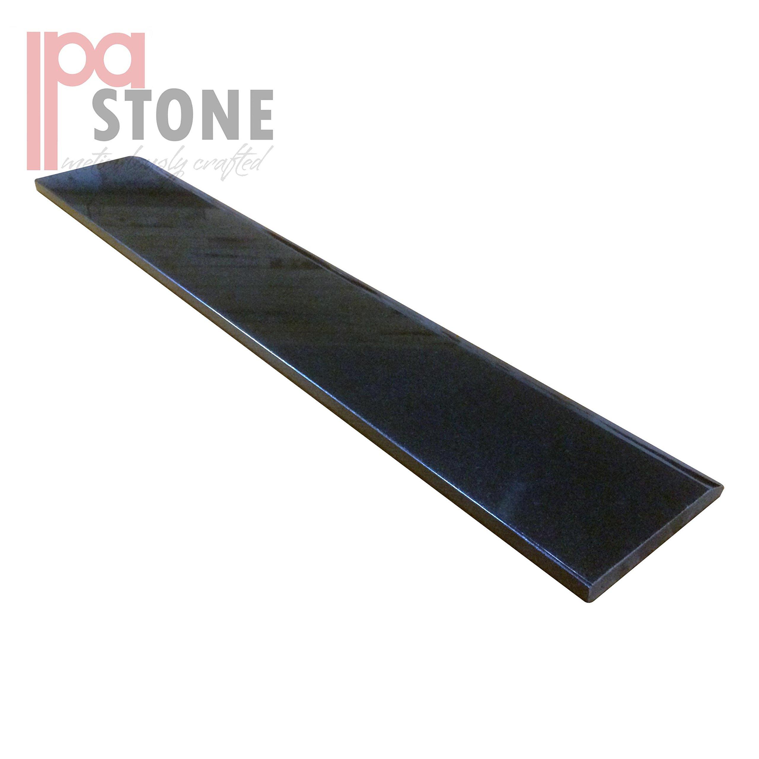Single Hollywood Granite Door Saddle - Black Absolute Threshold - 36 x 6 Inch