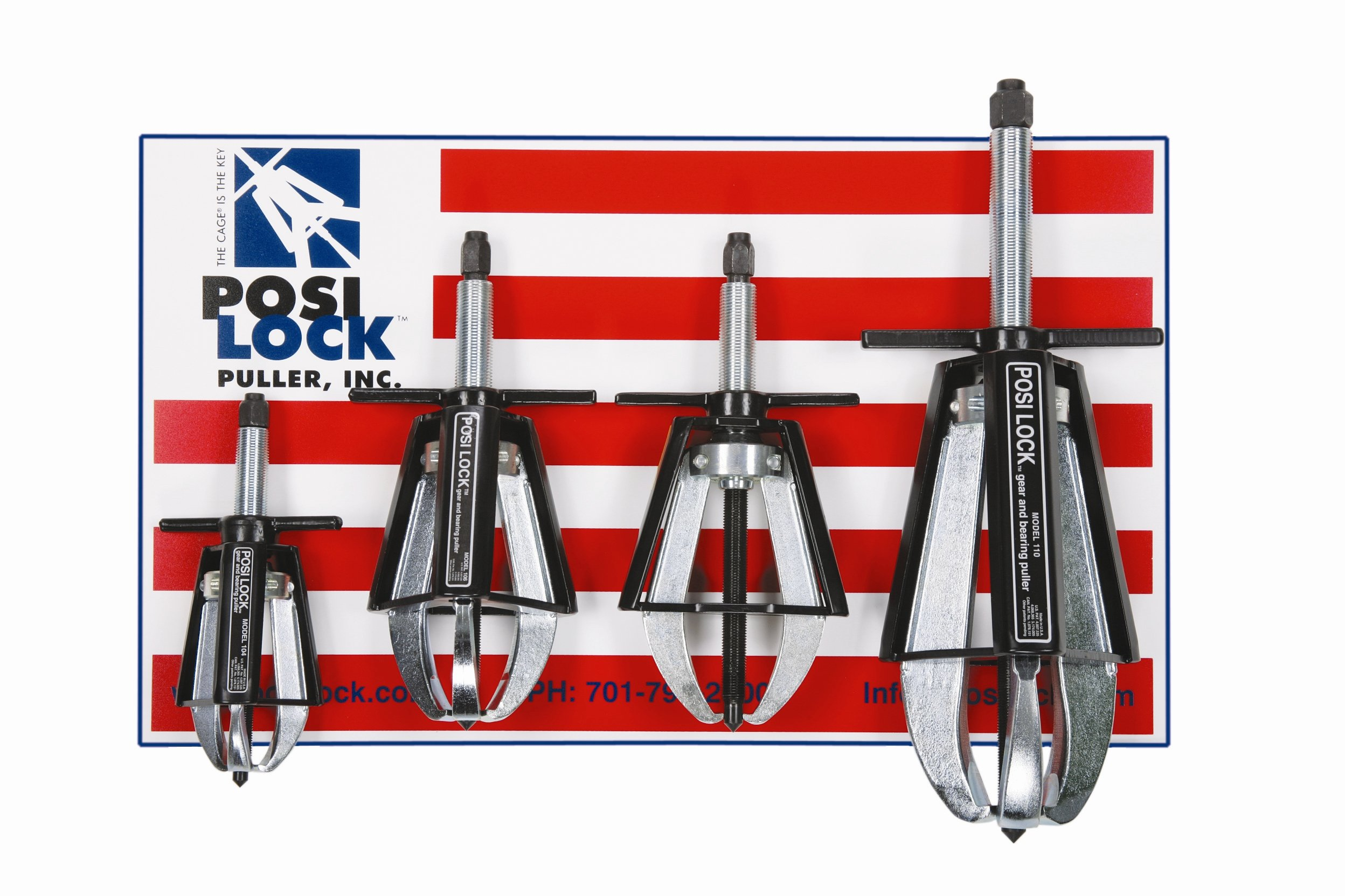 Posi Lock PM4 Puller Set, 5 to 20-Ton Capacity
