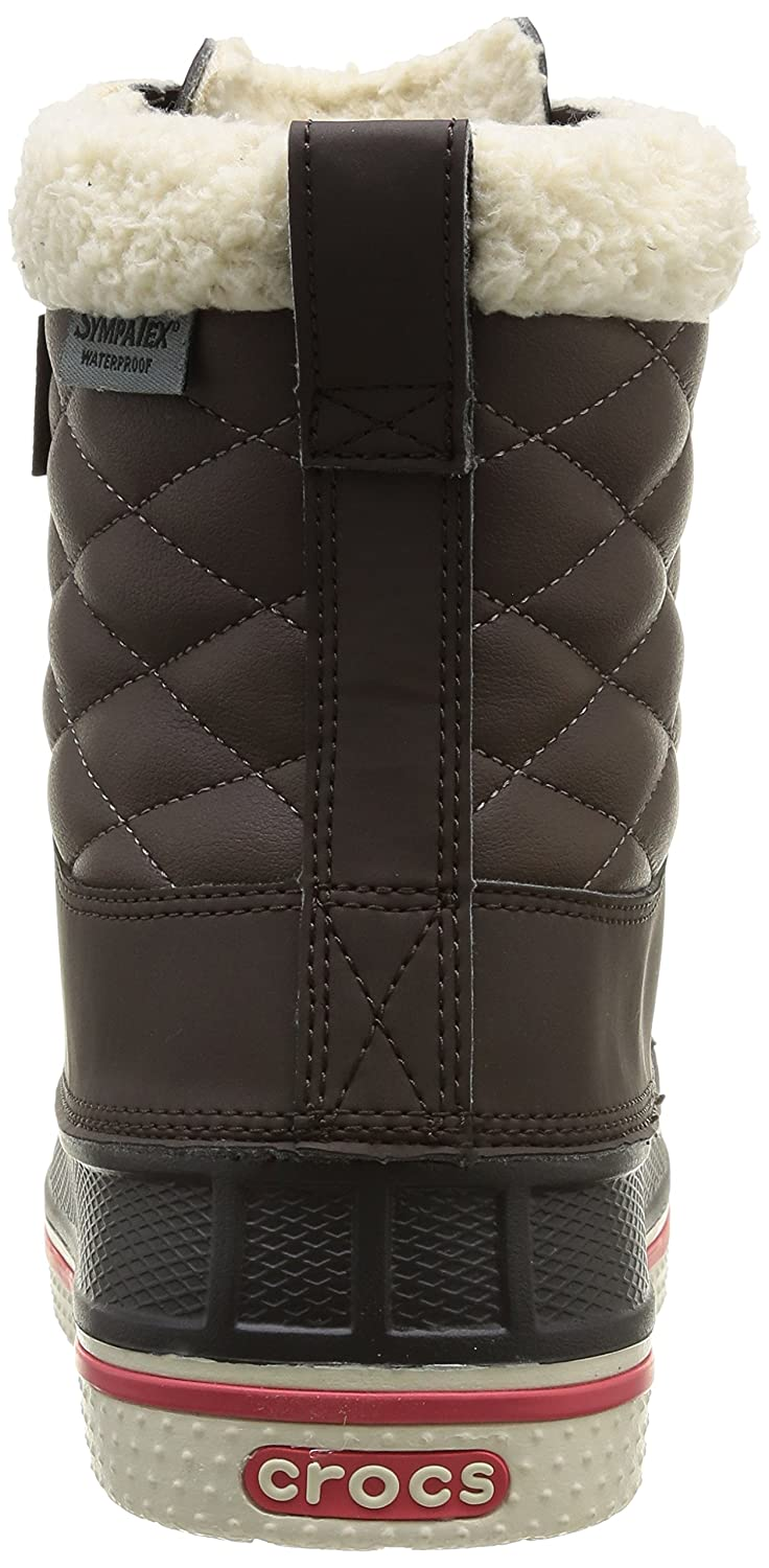 Crocs Women's AllCast Waterproof Duck Boot B00HMY5NMM 6 W US|Espresso/Red