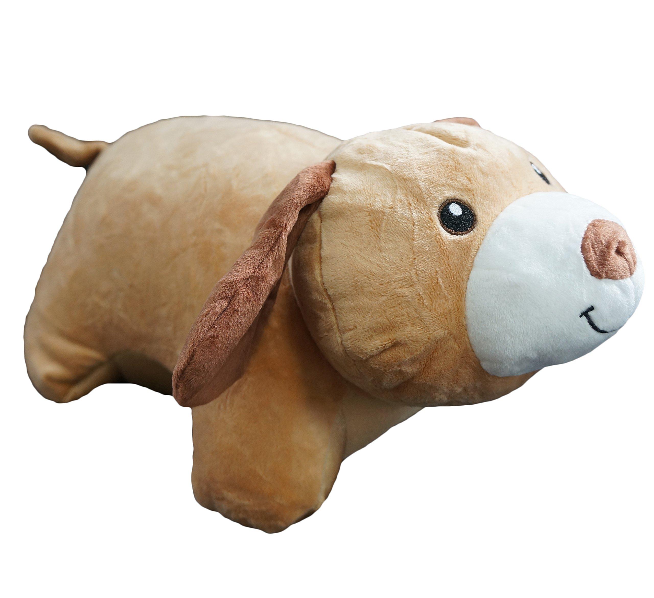 Yzakka Convertible Neck Pillow U Shaped Travel Pillow Stuffed Plush Toy Animal Dog by Yzakka (Image #2)