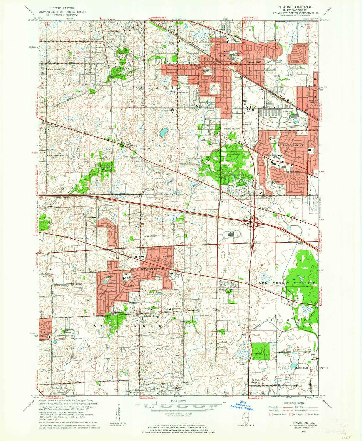 Palatine Illinois Map.Amazon Com Yellowmaps Palatine Il Topo Map 1 24000 Scale 7 5 X