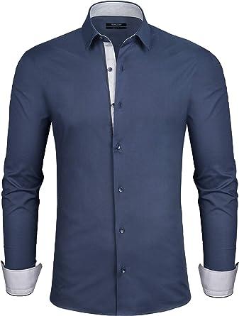 Grin&Bear SH310 - Camisa para hombre, talla M, color azul ...