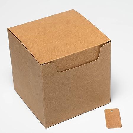 Box It Pack It - Paquete de 20 cajas de regalo de papel kraft, con ...