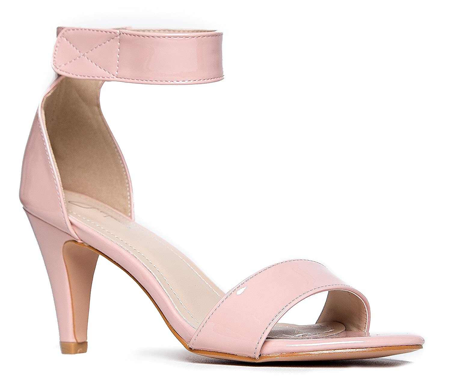 4dc5530a6a8 Women's Ankle Strap Open Peep Toe High Heels | Dress, Wedding, Party Heeled  Sandals | Elegant, Comfortable & Strappy