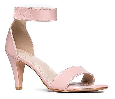 3d7dfa6cf6b65 Women's Ankle Strap Open Peep Toe High Heels   Dress, Wedding, Party Heeled  Sandals   Elegant, Comfortable & Strappy