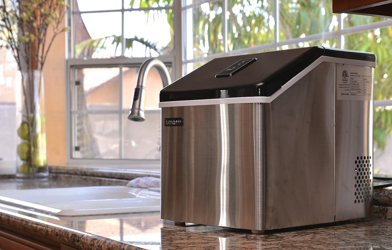 Amazon.com: Luma Comfort IM200SS Portable Clear Ice Maker, 28 Pound:  Appliances