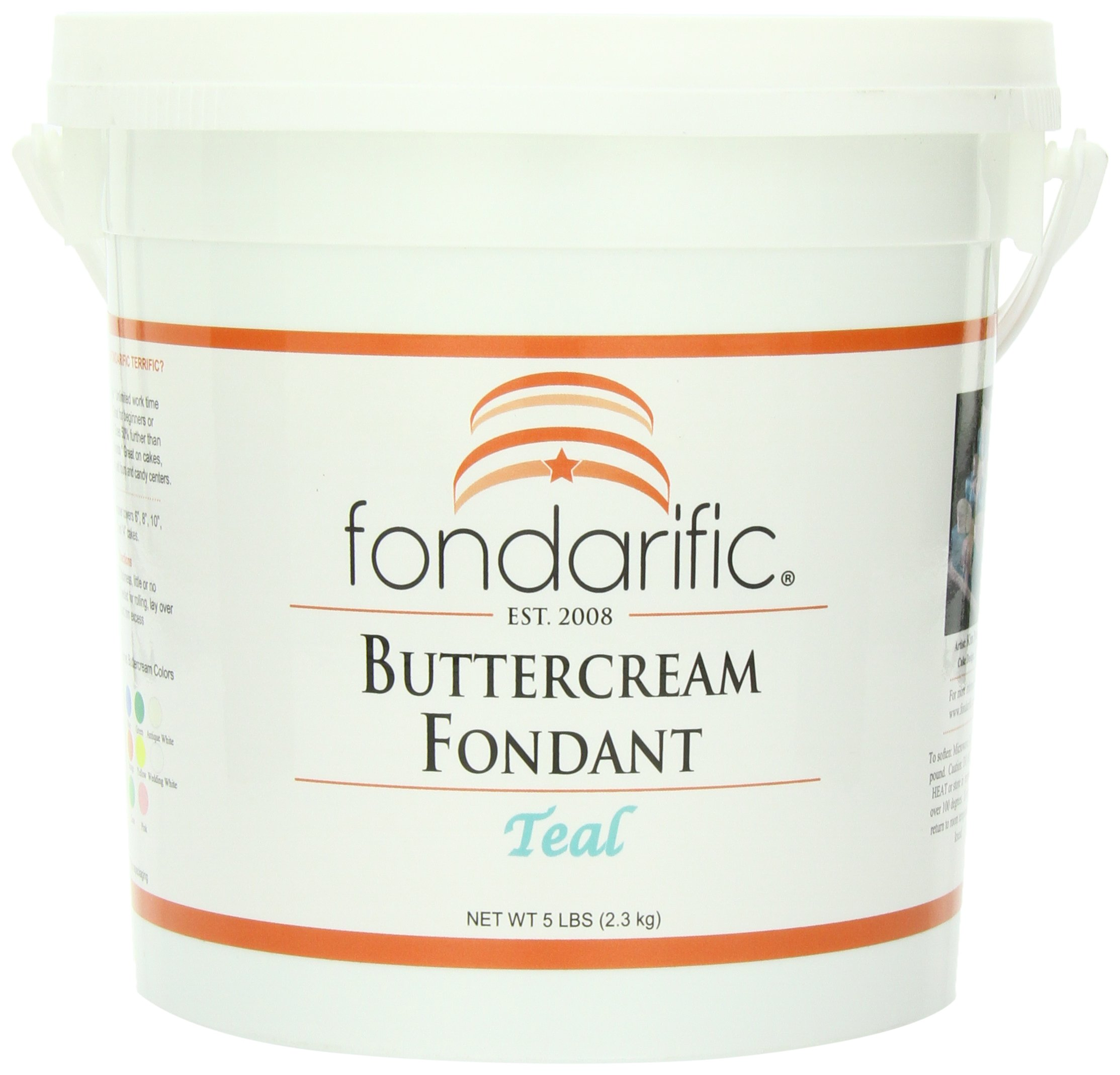 Fondarific Buttercream Teal Fondant, 5-Pounds
