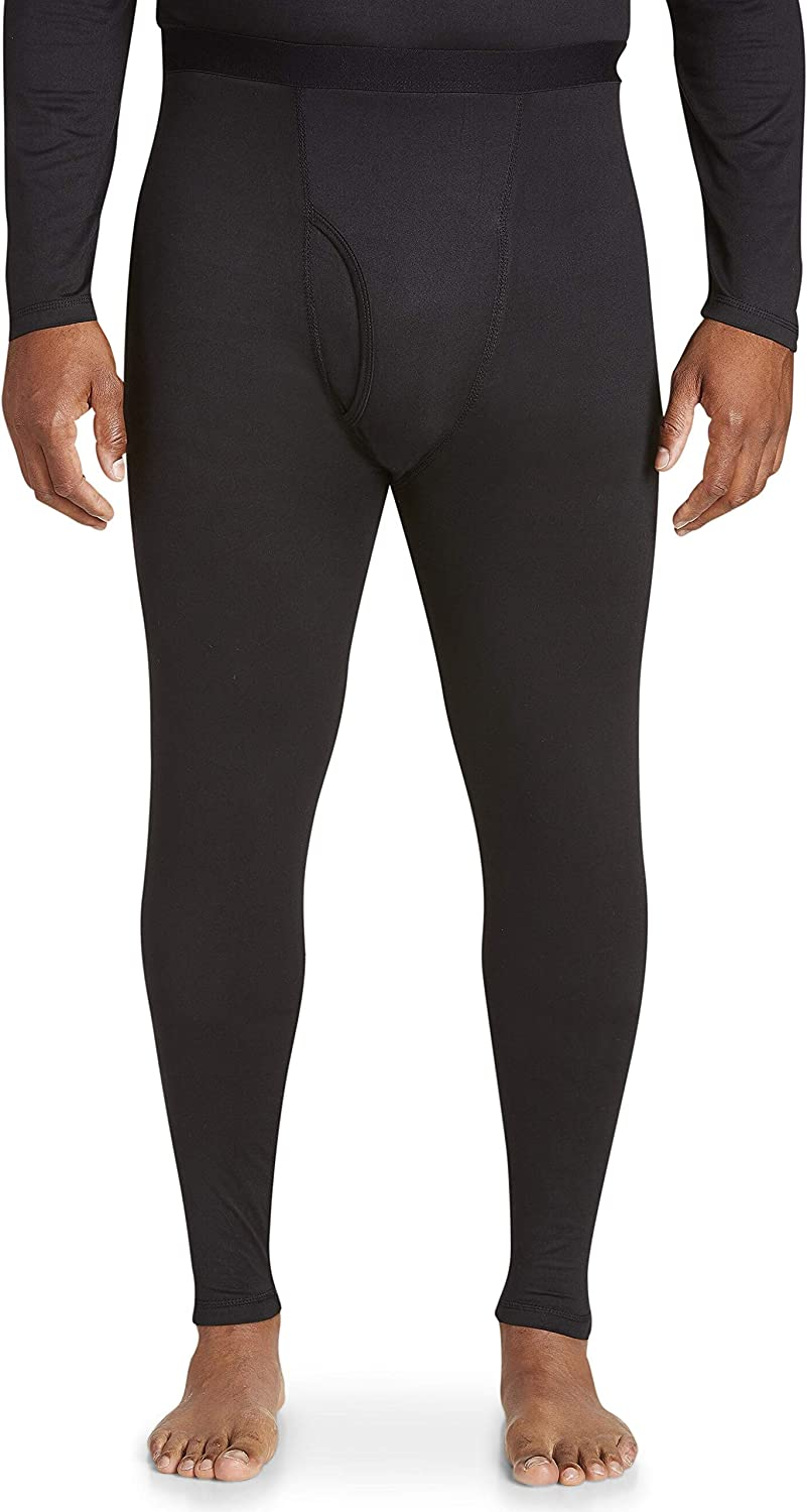 Harbor Bay by DXL Big and Tall Level 1 Performance Thermal Pants, Black