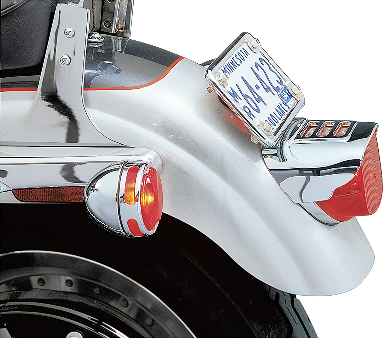 Slotted Taillight Cover for 1973-2019 Harley-Davidson Motorcycles Chrome Kuryakyn 8130 Motorcycle Accent Accessory