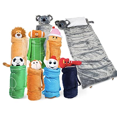 BuddyBagz Koala, Super Fun & Unique Sleeping Bag/Overnight & Travel Kit for Kids, All in 1 Traveling-Made-Easy Solution Complete with Stuffed Animal, Pillow, Sleeping Bag & Overnight Bag: Toys & Games