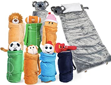 F Compact Cozy Warm Kids Sleep Sack /& Pillow Super Soft Sleeping Bag with Pillow All Season Portable and Fold-able Kids Fun Sleeping Bags with Pillow Happy Nappers Pillow /& Sleepy Sack- Comfy