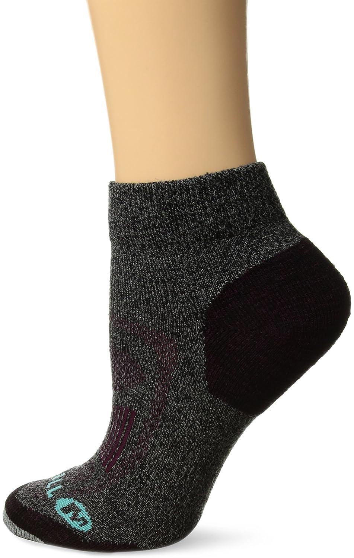 4-9.5 MEWF17F006-01 Merrell Womens Zoned Quarter Light Hiker Sock Black Marl Shoe Size