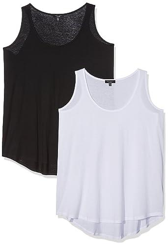 New Look Curves Two Pack, Top para Mujer, Black (Black Pattern), 54