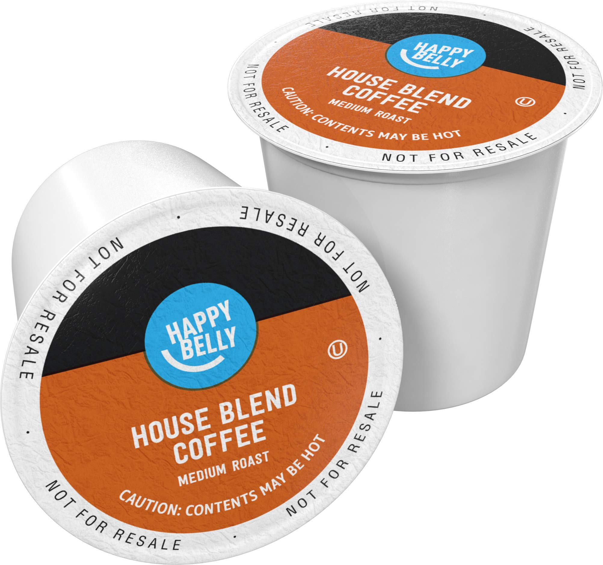 Amazon Brand - 100 Ct. Happy Belly Medium-Dark Roast Coffee Pods, House Blend, Compatible with Keurig 2.0 K-Cup Brewers