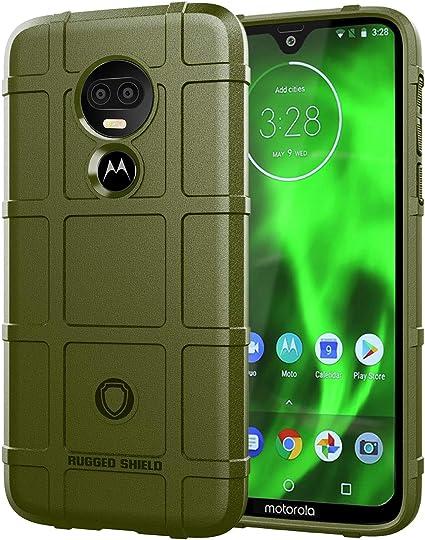 Custodia® Firmeza y Flexibilidad Smartphone Funda para Motorola Moto G7 Power(Verde Ejército): Amazon.es: Electrónica