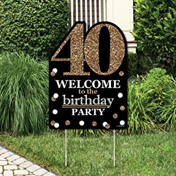 Amazoncom Adult 40th Birthday Gold Party Decorations