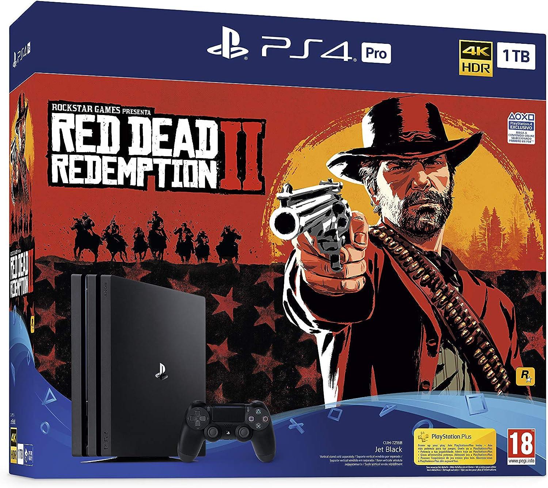 PlayStation 4 Pro (PS4) - Consola de 1 TB + Red Dead Redemption II ...