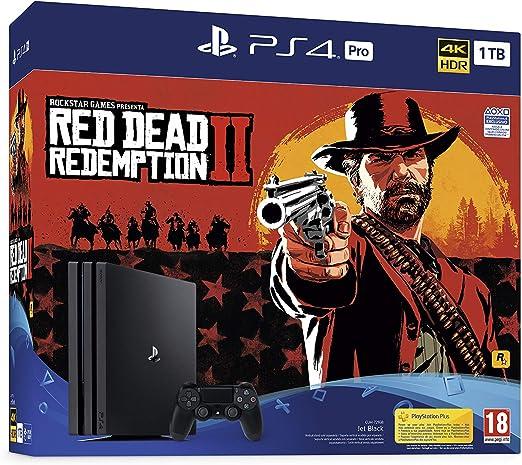 PlayStation 4 Pro (PS4) - Consola de 1 TB + Red Dead Redemption II: Sony: Amazon.es: Videojuegos