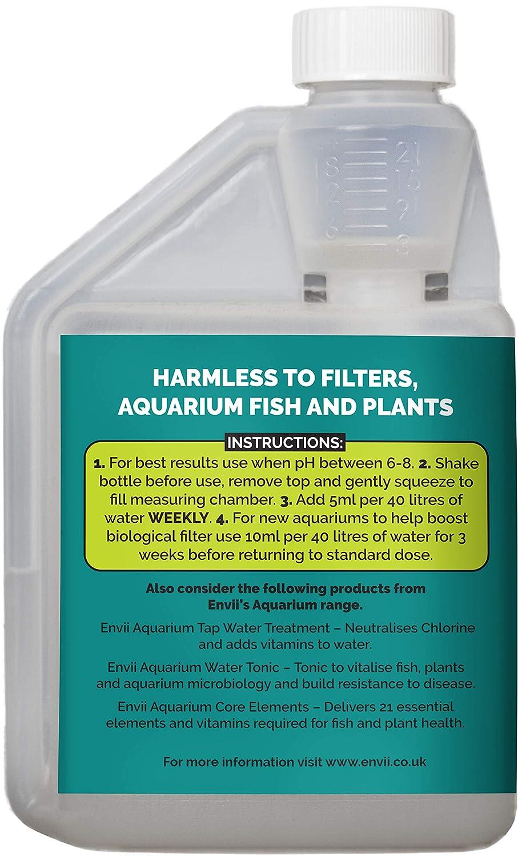 Envii Aquarium Klear - Tratamiento para Agua Verde y arenilla del Acuario - Trata 4.000 litros: Amazon.es: Productos para mascotas