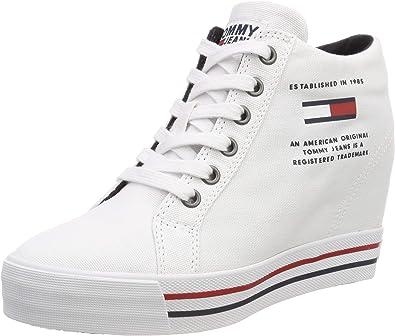 Tommy Hilfiger Cuña Casual Zapatillas Para Mujer Cuñas Shoes