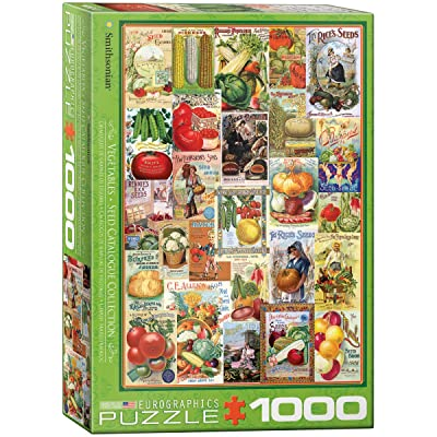 EuroGraphics Vegetables Smithsonian Seed Catalogues (1000 Piece) Puzzle: Toys & Games