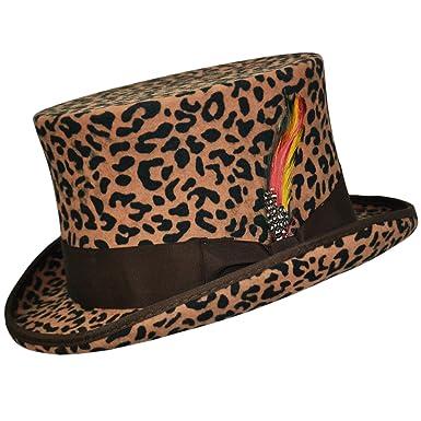 Leopard Print Top Hat  Amazon.co.uk  Clothing 6779e2ad85f
