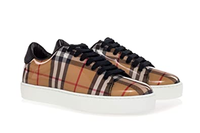 BURBERRY Women s Shoes  Westford  Vintage-Check Sneakers with High Gloss  Upper-35.5 895309bf0de