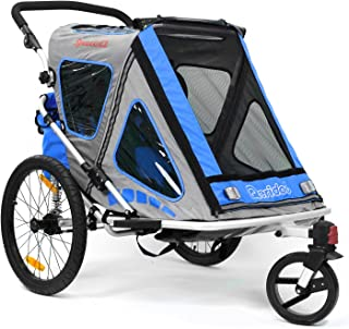 Qeridoo Kinderfahrradanhänger Speedkid2, Blau, Q200A