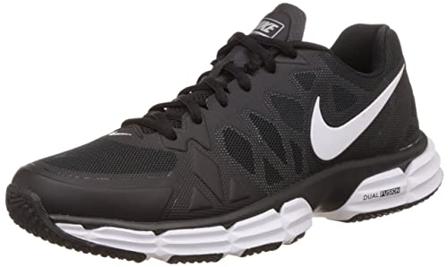 Nike Men's Dual Fusion TR 6, BLACK/WHITE-METALLIC SILVER-PURE PLATINUM
