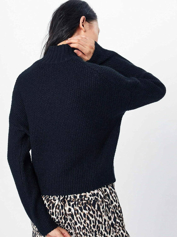 Only Onltaliya Shorthighneck L//S Pullover Knt Dolcevita Donna