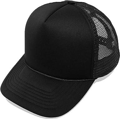 Plain Baseball Cap Strap back Adjustable Solid Blank Hat Polo Style Visor Caps