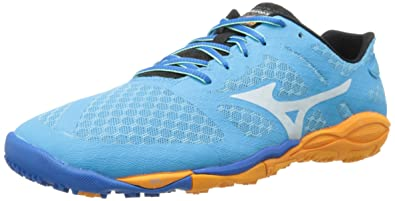 Mizuno Women's Wave Evo Ferus Running Shoe,Blue,7 B US