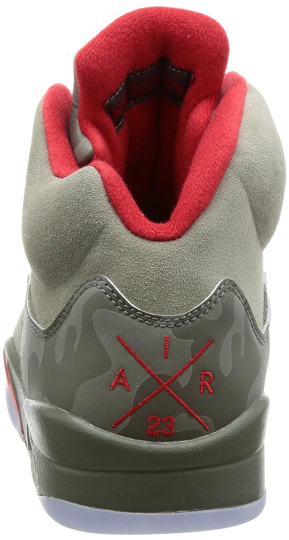 brand new 3e0aa f035a Amazon.com   Nike Air Jordan 5 Retro Mens Hi Top Basketball Trainers 136027  Sneakers Shoes (UK 8 US 9 EU 42.5   Basketball