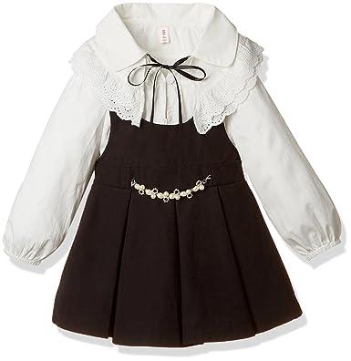 4d45f9e08129a ノーブランド品  2点セット  女の子 ドレス 韓国子供服 フォーマル スーツ ブラウス