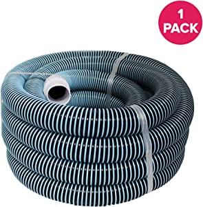"""Think Crucial Replacement for 30 Ft Heavy Duty Swimming Pool Vacuum Hose 1-1/2"""" x 30', Compatible with Part 33430 Fits All Pool Vac Hoses with Manual Pool Vacuum Heads"""