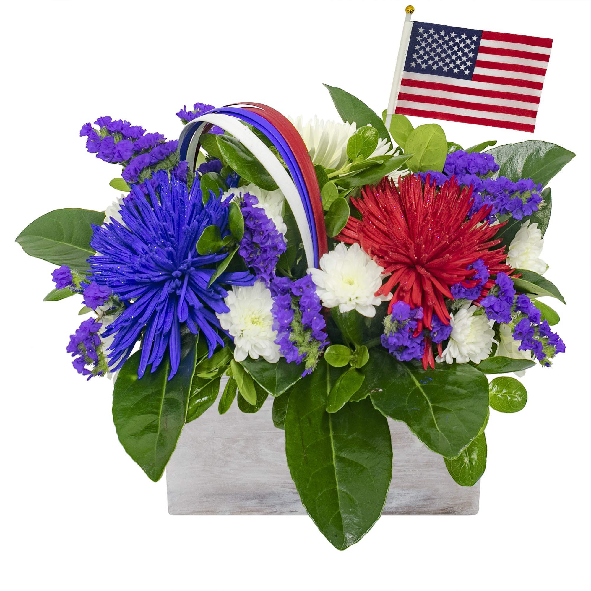 Vistaflor - Patriotic Centerpiece Arrangement by eFlowy