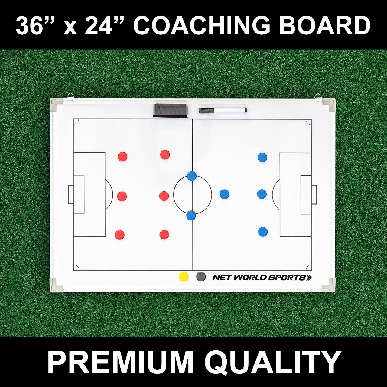 Soccer Tactics/Coaching Board 36in x 24in [Net World Sports]